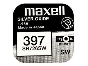 MotivéE Maxell 397 Pila Batteria Orologio Mercury Free Silver Oxide Sr726sw Japan 1.55v Une Large SéLection De Couleurs Et De Dessins