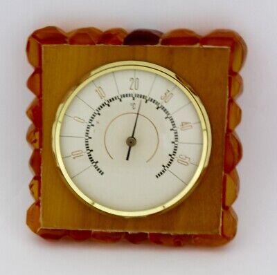 Altes Bernstein Thermometer Amber Celsius 10x10 Cm Einzelstück SorgfäLtige FäRbeprozesse