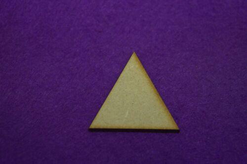 2 CM 4 CM 5 Cm-Corte Láser Forma De Madera 3 CM Triángulos De Mdf 1 CM