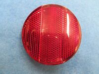 Bicycle 2-1/2 Round Red Rear Plastic Reflector -