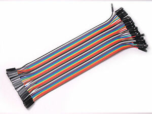 40pcs-20-cm-Dupont-Female-to-Female-Breadboard-Jumper-Wire-Raspberry-pi-Arduino