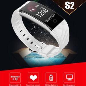 Bluetooth Sports Smart Armband Pulsuhr Schrittzähler Fitness Uhr SchlafTracker
