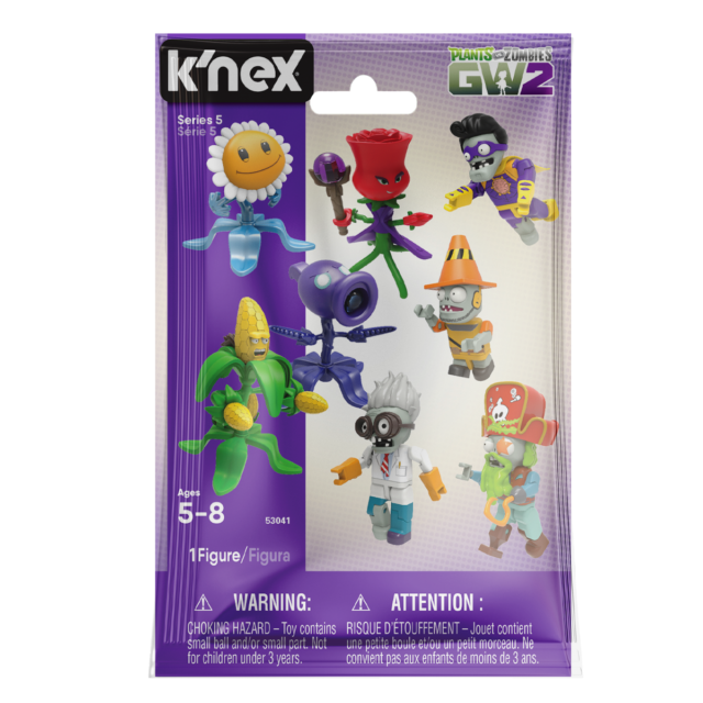 New 1 PACK K'nex Plants Vs Zombies Series 5 Mystery Blind Bag Figure Official