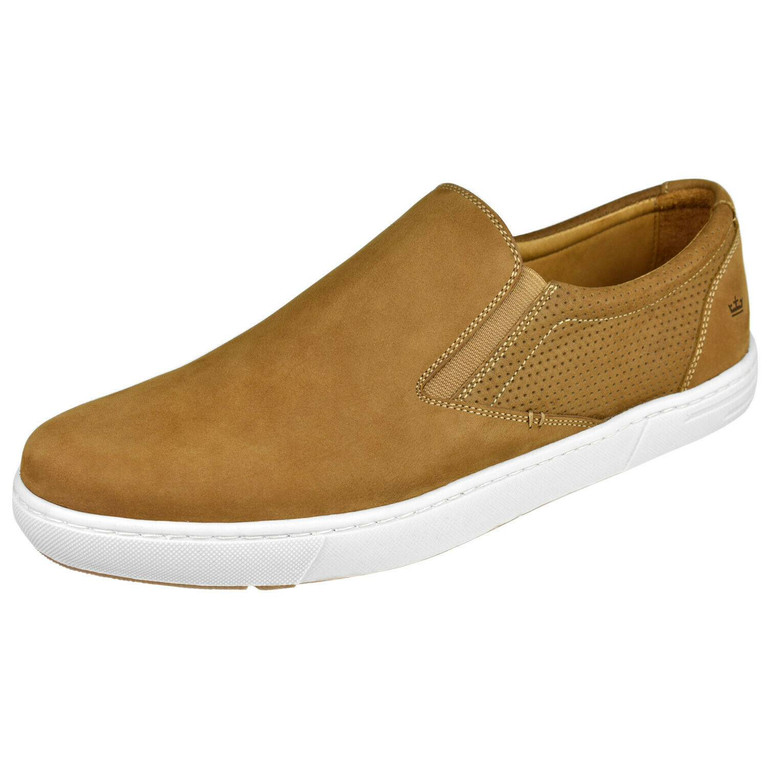 Peter millar para hombre Big Sur tan suede slip on zapatillas Talla 11