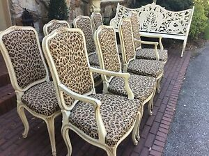 Image Is Loading Set 8 Henredon French Provincial Hollywood Regency Leopard