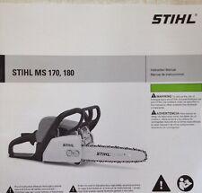 stihl ms 170 180 owner s instruction manual ms170 ms180 ebay rh ebay com MS 170 Parts Breakdown Stihl MS 280 Parts Diagram