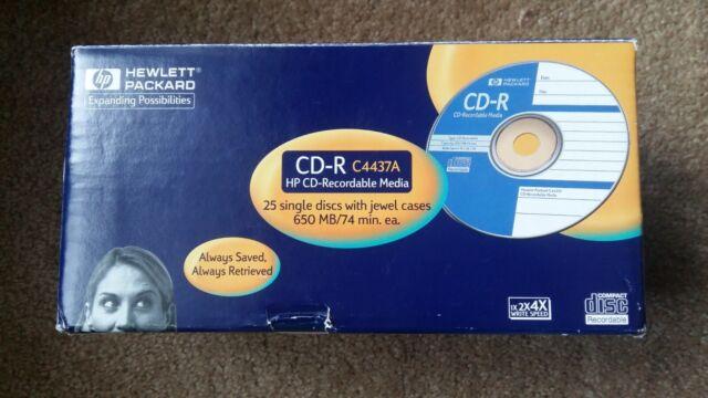 Vintage 1998 Hewlett Packard C4437A CD-R 74 Minute 650MB 25-pk SEALED LOOK! 4x