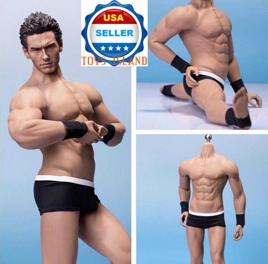 1 6 Phicen PL2016-M33 flexible sin costuras esqueleto de acero cuerpo muscular masculino ❶ USA ❶