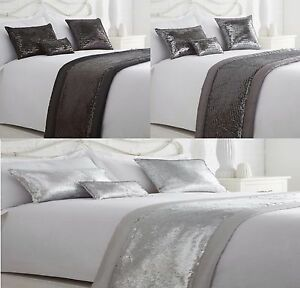 LUXURY SEQUIN BED RUNNER WITH MATCHING CUSHIONS AVAILABLE,GREAT ...