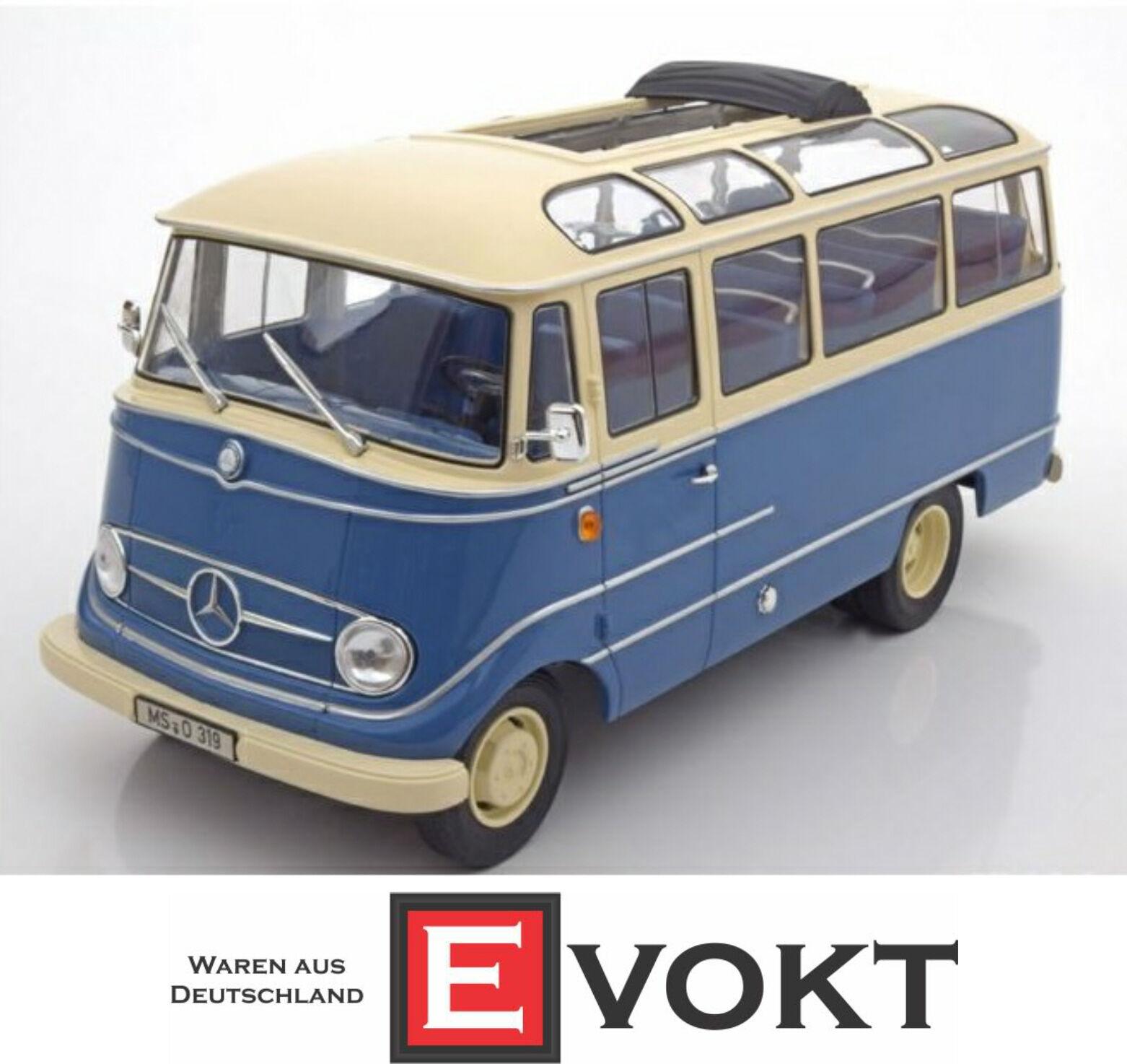 1 18 Norev Mercedes O319 bus 1960 bleu crème
