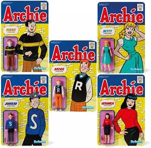 Archie-Comics-Super7-Reaktion-Actionfigur-Set-Mit-5-Pals-039-Gals-Riverdale