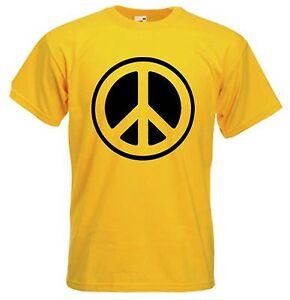 CND-SYMBOL-TSHIRT-Peace-Political-Anti-Nuclear-Hippy-Choice-Of-Colours