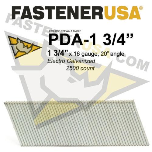 """16 Gauge Angled Finish Nails 1 3//4/"""" 2500 count fits Paslde//Dewlt"""