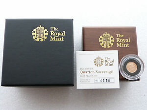 2009 Royal Mint Gold Proof Quarter Sovereign Coin Box Coa  First Year of Issue - London, United Kingdom - 2009 Royal Mint Gold Proof Quarter Sovereign Coin Box Coa  First Year of Issue - London, United Kingdom