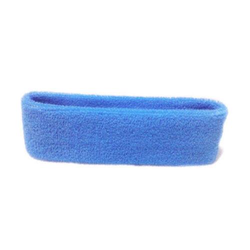 Women//Men Cotton Sweat Sweatband Headband Yoga Gym Stretch Head Band Sport Sd
