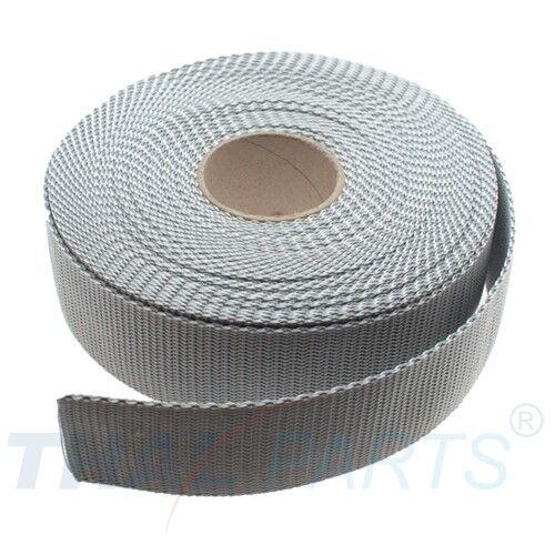 ca 10m Gurtband 40mm Breit Silbergrau Taschengurt Taschenband 1,6mm stark
