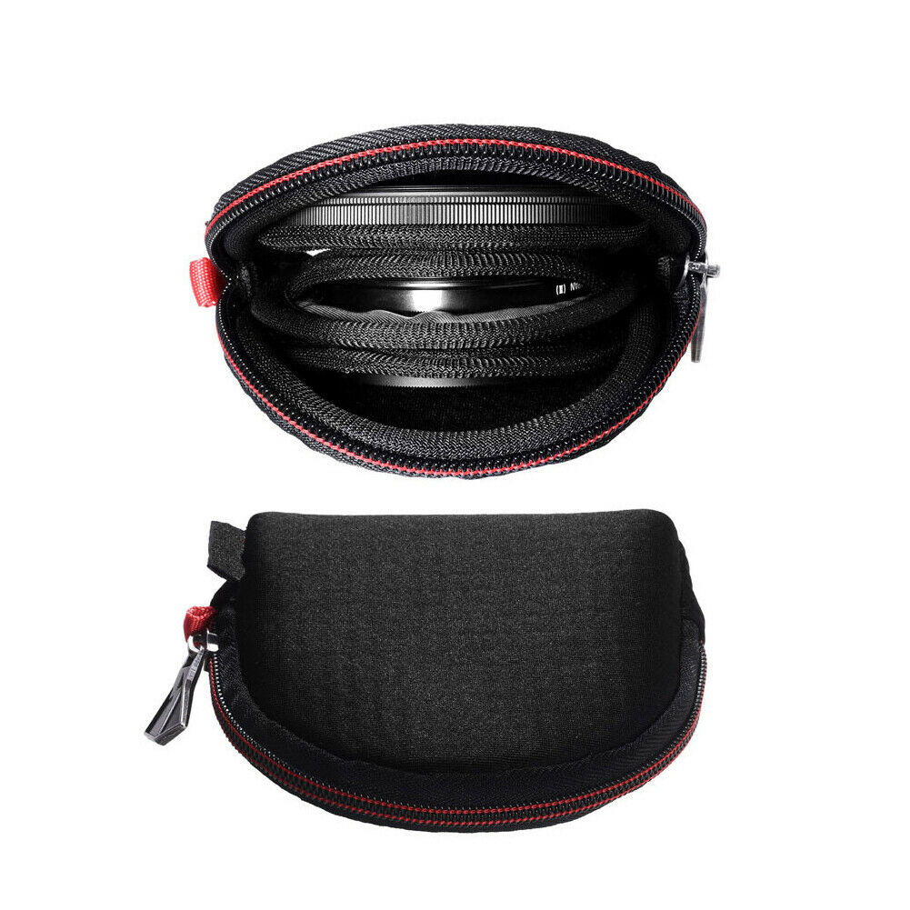 Zipper Universal Diving Cloth Lens Filter Pouch Carrying Case Travel For Camera