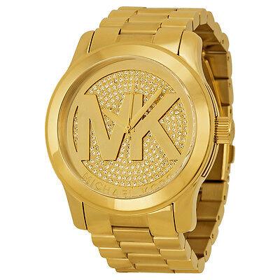 Michael Kors Runway Crystal Pave Gold-tone Ladies Watch MK5706