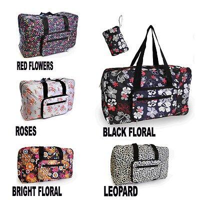 Lightweight Folding Printed Travel Bag Cabin Bag in Three Amazing Designs