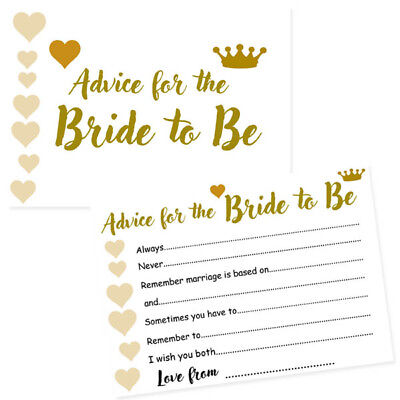 PACK OF 8 ADVICE FOR THE BRIDE TO BE WORDS OF WISDOM CARD GAME HEN PARTY