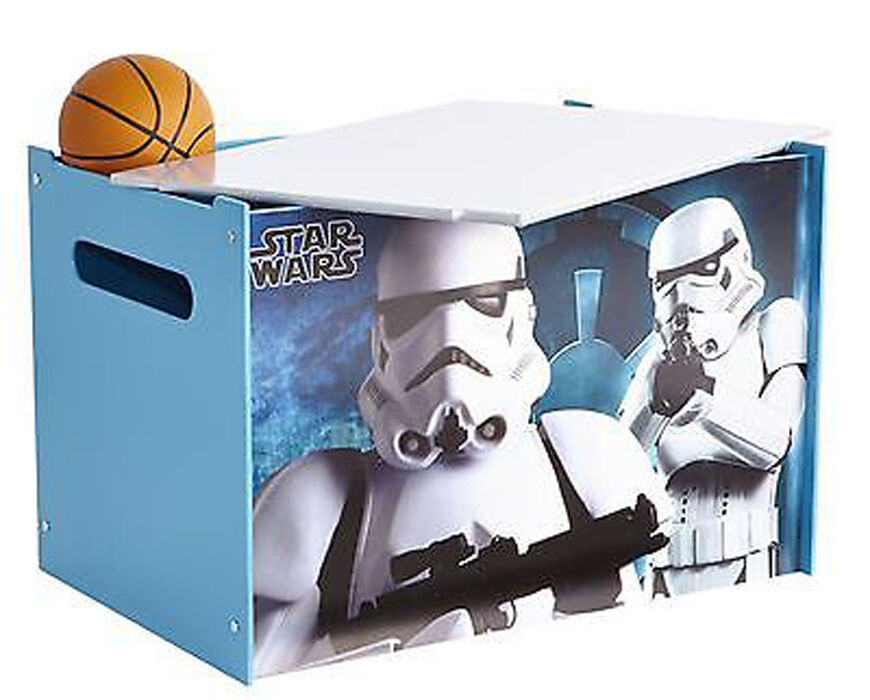 Coffre à jouets enfant Star Wars en bois - Dim   60 x 40 x 40 cm