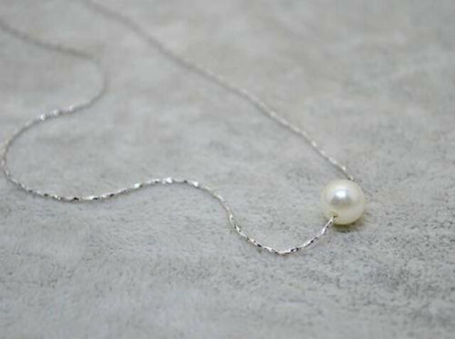 Women Fashion 12mm Simple Pearl Gold/Silver Bib Choker Statement Collar Necklace