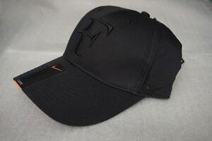 fd09903f052 New Nike RF Roger Federer Hat Cap Black Tennis Dri Fit 371202-011