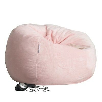 FUR BEANBAG LARGE Soft Pink Velvet Cover Nursery Cloud Chair Bean Bag Baby Room