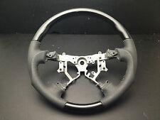 Toyota TUNDRA 2003-2006 Black Wood PIANO leather steering wheel-SPORTS