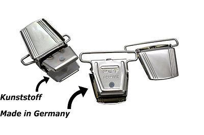 3,5cm Larga Made In Germany H O X Forma 10 Colori Bretelle Clip 4-