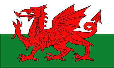 "Wales National Flag Bumper Sticker 5"" x 4"""