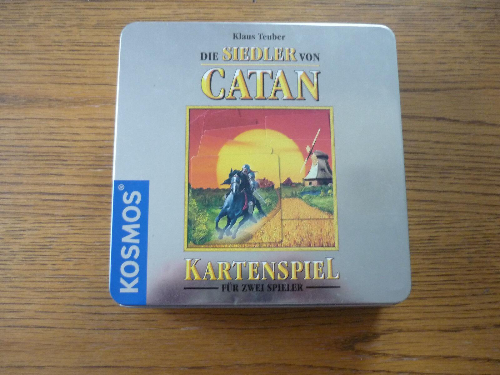 Die Siedler von Catan - Kartenspiel für zwei Spieler -Blechbox- Kosmos-teils OVP