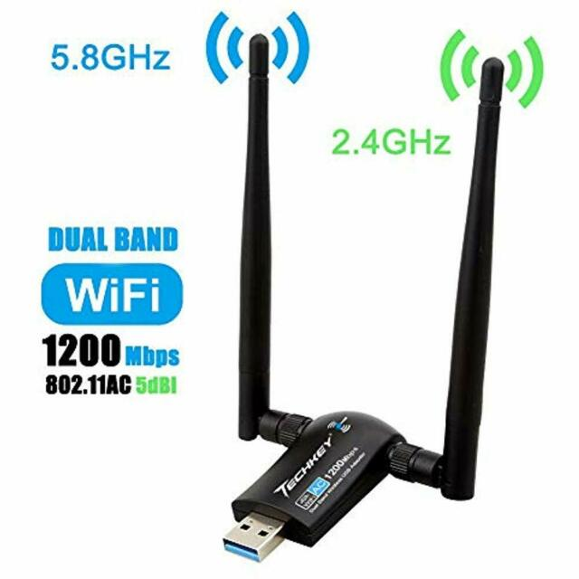 BrosTrend 1200Mbps Long Range USB WiFi Adapter; Dual Band 5GHz Wireless Netwo...