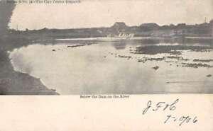 Clay-Center-Nebraska-Dam-On-River-Antique-Postcard-K83298