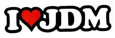 I HEART JDM Decal Sticker RARE Funny japan drift honda illest toyota drag