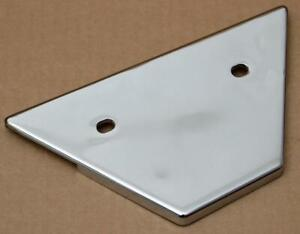 Harley-original-Rahmenabdeckung-links-hinten-chrom-Frame-Cover-left-rear-FXR