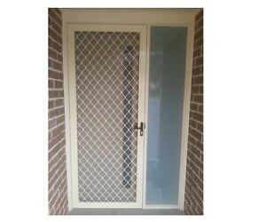 Brand New Standard Diamond Grill Security Door With Fly