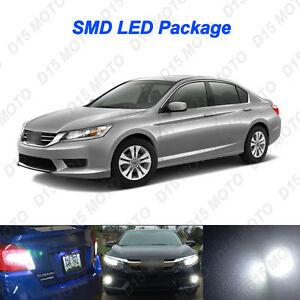 16 x 2013 2015 honda accord ultra white led interior bulbs - 2015 honda accord interior illumination ...