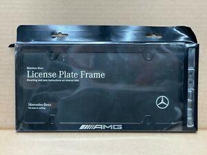 Mercedes-Benz Genuine AMG Black Slimline License Plate Frame NEW