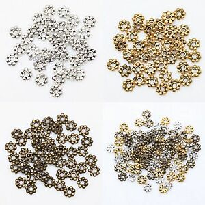Lots-1000pcs-Tibetan-Silver-Daisy-Flower-Spacer-Beads-Jewelry-Findings-4mm