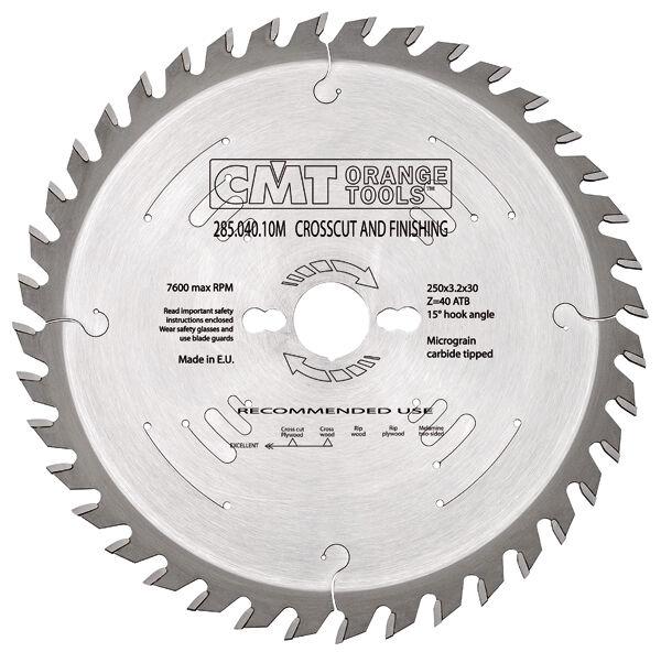 Lame industriali CMT per taglio traverso vena Cod.  285-291-194