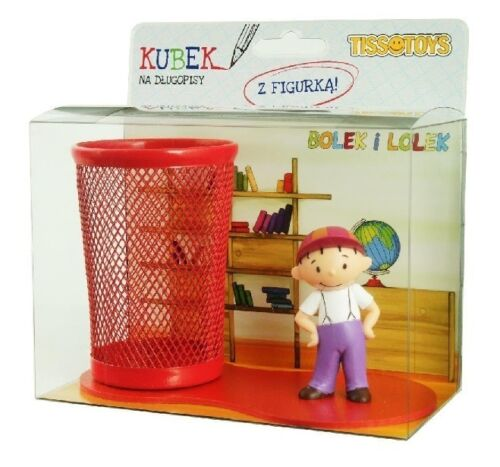 Lolek aus Lolek u Bolek mit Stiftebox Stifteköcher Spielfiguren Tissotoys 11002 Action- & Spielfiguren