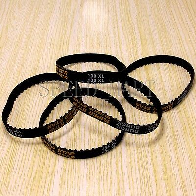 5 x 100XL 100XL037 Timing Belt 50 Teeth Cogged Rubber Geared Belt 10mm Wide