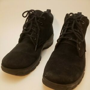 EUC-Mens-Lands-End-Hiking-Boots-Size-10HD-Lace-Up-Black-Suede-79245-2442-1449