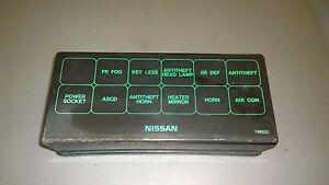 97 NISSAN PATHFINDER UNDER HOOD FUSE BOX COVER OEM GUARANTEE F-O-3