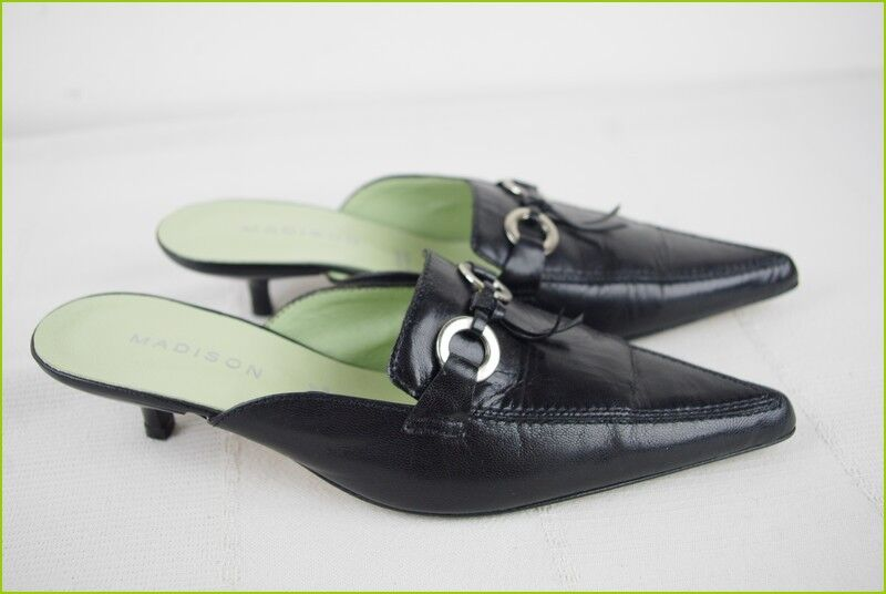 Backless shoe Sandals MADISON Black GOOD Leather T 35 VERY GOOD Black CONDITION 022735