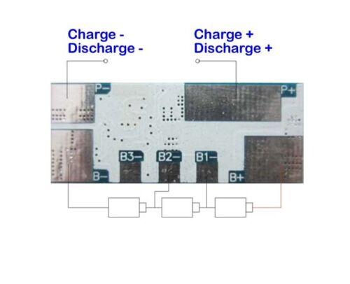 Protection Circuit Module 3 S 10 A Mic pour 11.1 V Li-ion Li-Po Batterie 3S10W009