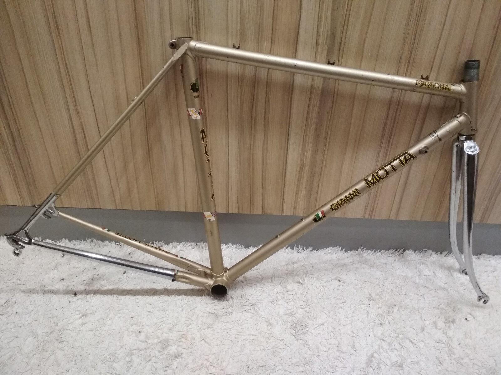 Equipo De Bicicleta Vintage Gianni Motta personal marco tarde podrían oroen 52x53 Rara