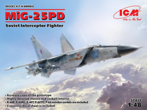 ICM 1 48 Mikoyan MiG-25PD Soviet Interceptor Fighter