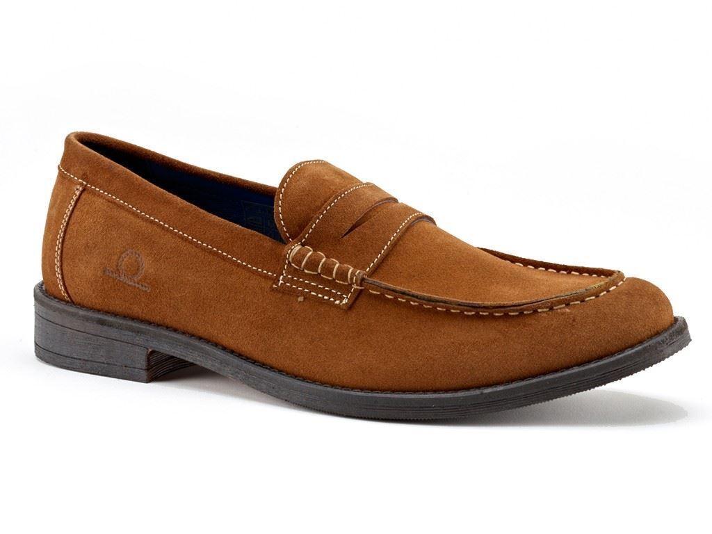 Chatham Perth Penny Slipper Bernstein Veloursleder Schuhe in Größe UK7 to UK15